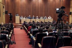 Imagen de una sesión de claustro retransmitada en streaming por la UDV
