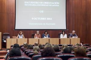 Encuentro con Orientadores celebrado en octubre de 2014