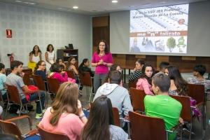 Visita de alumnado a las instalaciones de FEMETE, dentro del programa