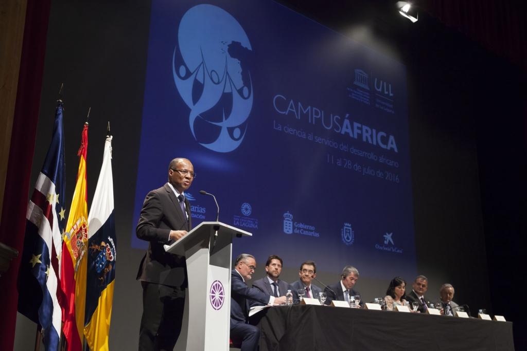 El primer ministro de Cabo Verde, durante la inauguración de la II edición del CampusÁFRICA