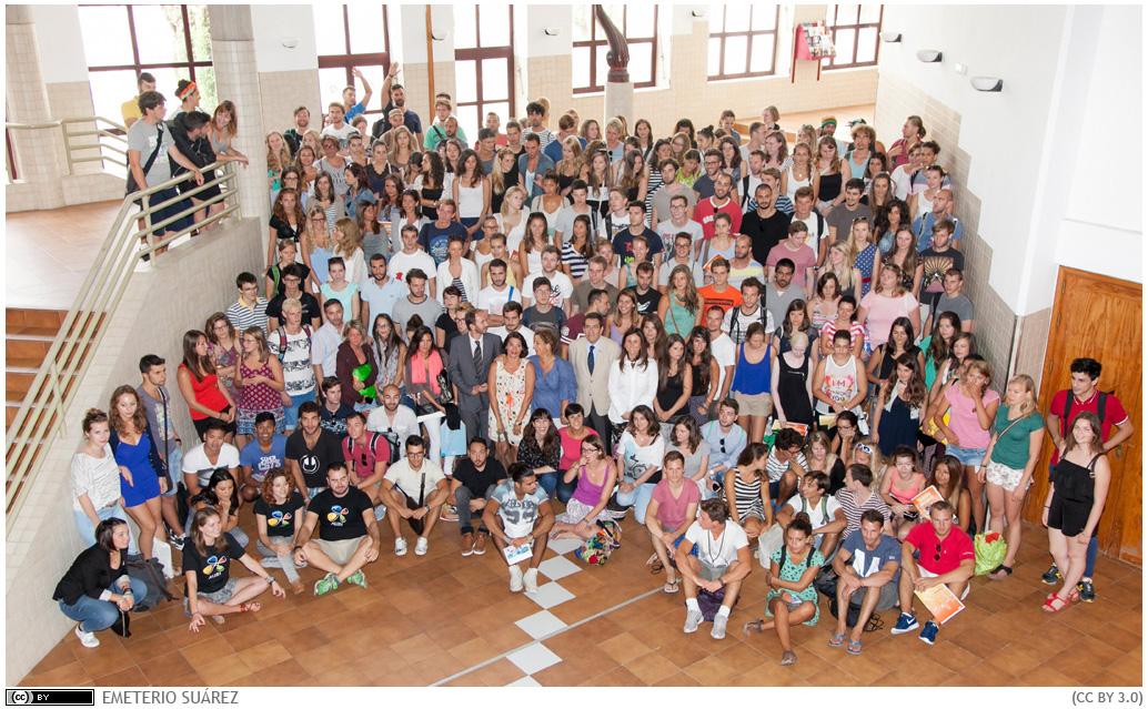 Foto 1. Bienvenida alumnado Erasmus 2015