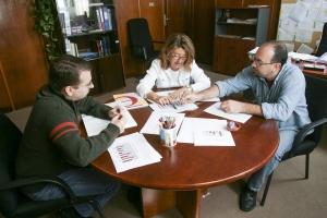 Foto 1. Personal del Gabinete de Análisis y Planificación