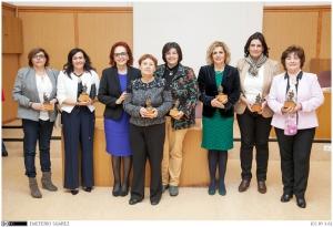 Foto 13. Mujeres de la comunidad universitaria homenajeadas.