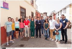 Foto 4. Alumnado participante en el programa de mentoría internacional en 2015