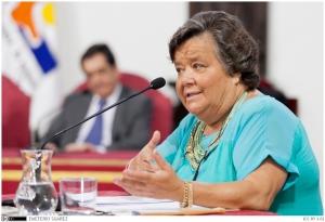 Inauguración de la Universidad de Verano de Adeje, que contó con la ponencia de  la abogada y política Cristina Almeida.